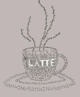 Latte (Coffee Cup) by ALynnCreations