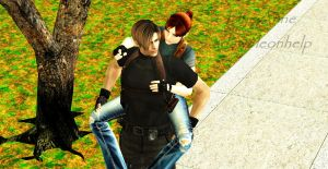 Leon and Claire's vacation by adaw8leonhelp