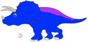 Madison the Triceratops by DinoLover09