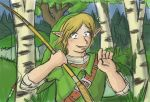 Link - Oh, Hey! I-it's you.... by Jo-Onis