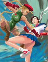 Sakura Vs Cammy by venemakik