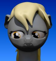 Sad Derpy close up by Harikon