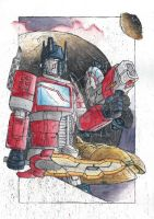 Transformers - Optimus Prime's decision by monkeypoke
