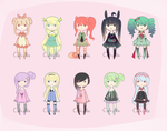 Magical girls and pastel goth quick set [CLOSED] by TeaLattes