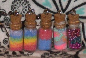 Bottle Charms by foxdemon123