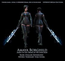 Amaya Borghild : Agent Colour1 by HazardousArts