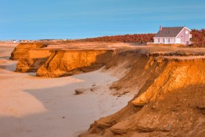 Thunder Cove Beach Cliffs - Golden Pastel Hour by somadjinn