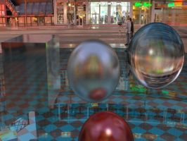 Raytraced glossy reflection/refraction by mcsoftware