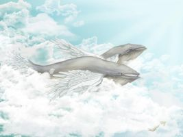 Winged Whales by Maye1a