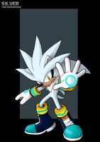 silver the hedgehog  -  commission by nightwing1975
