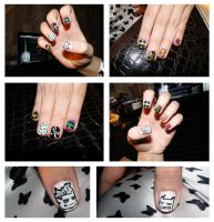 Gotham City Impostors Nail Art by KariInlove