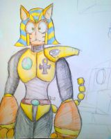 Rockman untitled RM refining -Spinx Woman by shadowmanwily