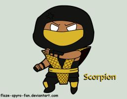 Classic Scorpion Chibi request by Crimson-Flazey