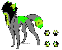 5 POINT Toxic scene dog adoptable by 6LITCH-TH3-W01F
