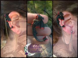 Black Dragon Earring by Nakihra