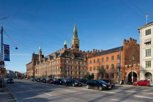 Copenhagen city hall and fire station by M-M-X