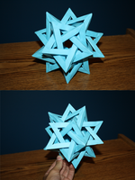 5 Intersecting Tetrahedra by michael1337