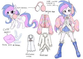 mlp oc Billow pony+equestria girls(DesignTest) by skyshek