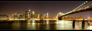 Manhattan Skyline by Quatroversion