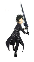 Sword Art Online - Kirito Render by eaZyHD