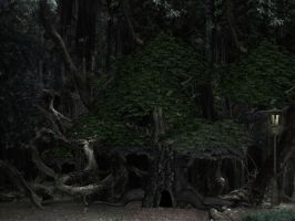 Dark Fantasy Forest by mysticmorning