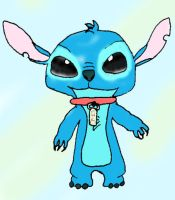 Stitch with lilo's necklace by Xperiment-Xackt