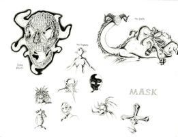 'Mask' Concept Sketches by JNRedmon