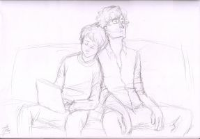 Floofeh Johnlock by Zizzani