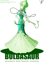Bulbasaur evolves into Haute Couture by Neko-Vi