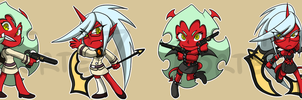 Stickers: Scanty and Kneesocks by forte-girl7