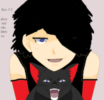 RAVEN AND HER KITTY by poisonraven5