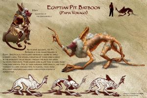 Egyptian Pit Batboon by MasterpieceLost