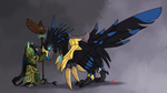 Anzu the Raven Lord by Dying-Phoenix