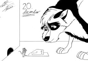 Kitara the wolfhound - Dec. 20 by MortenEng21