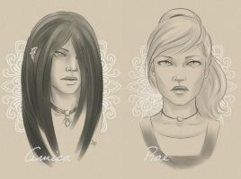 Amica and Rae by Gnewi