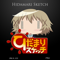 Hidamari Sketch - Anime Icon by duckne55
