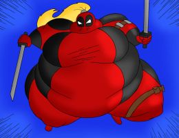 Obese Lady Deadpool by Robot001