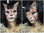 Mutant Cat Girl Makeup by Anesthetic-X