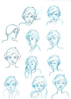 Facial Expressions Exercise by Ielle77