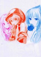 pink orange and blue by reaperedvin