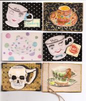 ATC- ACEO Tea Cups by claudiamm37