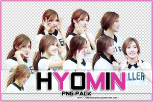 [PNG PACK #057] Hyomin (T-Ara) by babykidjenny