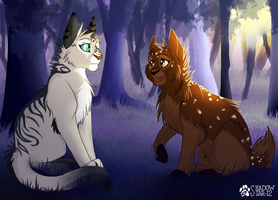 A Talk in the Woods - Commission by Shadowstar-12