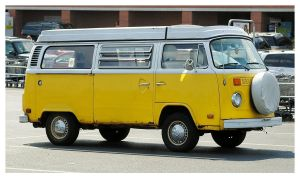 A Yellow VW Van by TheMan268