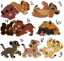 Lion cubs adopts 2 CLOSED by sheri37