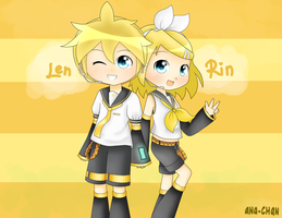 Kagamine Twins by Q-iu