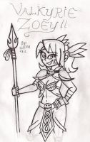 Valkyrie Zoey B/W by gilster262