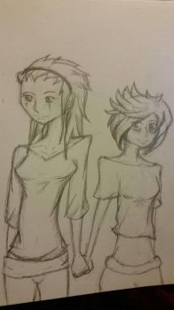 Gender Bend: Axel and Roxas by saixel