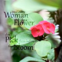 Woman is a Flower by froztlegend