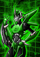 Green Lantern Arcee by Berty-J-A